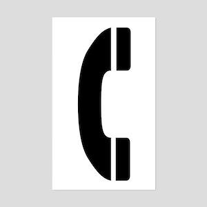 Phone Symbol Rectangle Sticker