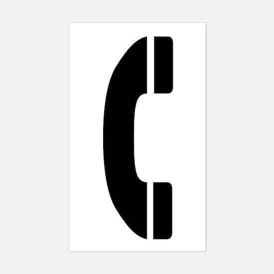 Phone Symbol Rectangle Decal