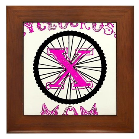 Cyclocross Mom Unique Framed Tile