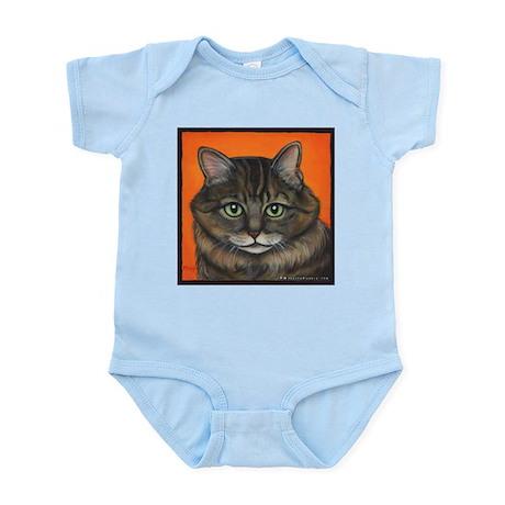 Cat Long Brown Hair Infant Creeper