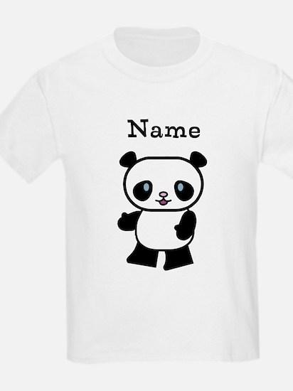 Personalized Panda Kids T-Shirt