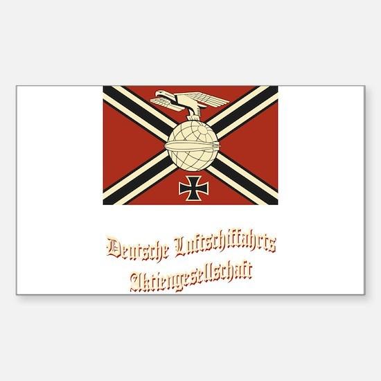 Deutsche Luftschiffahrts Flag Sticker (Rectangle)