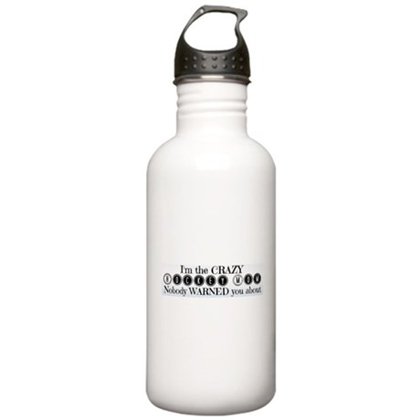 Crazy Hockey Mom Stainless Water Bottle 1.0L