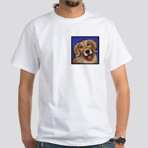 Golden Retriever White T-Shirt
