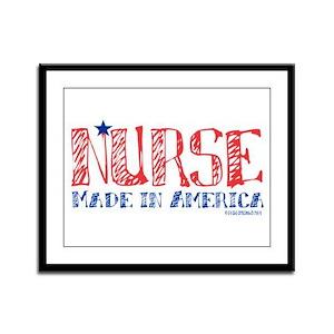 Nurse made in America Framed Panel Print
