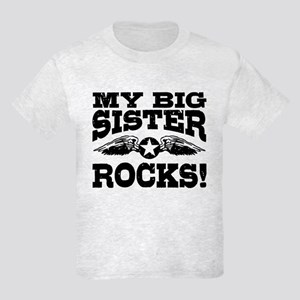 My Big Sister Rocks Kids Light T-Shirt