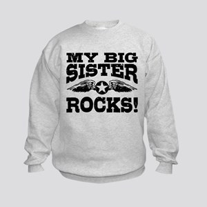 My Big Sister Rocks Kids Sweatshirt