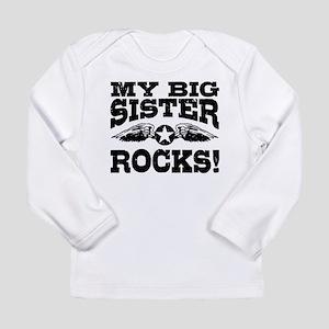My Big Sister Rocks Long Sleeve Infant T-Shirt