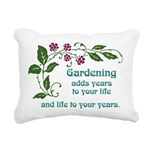 Gardening adds Years Rectangular Canvas Pillow