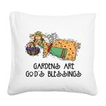 Gardens are Gods Blessing Square Canvas Pillow