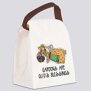 Gardens are Gods Blessing Canvas Lunch Bag