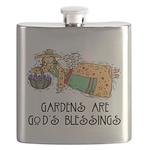 Gardens are Gods Blessing Flask