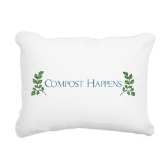 Compost Happens Rectangular Canvas Pillow