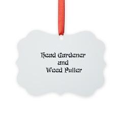 Head Gardener Ornament