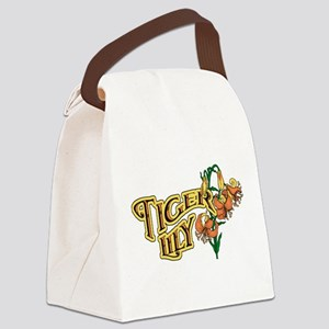 Tigerlily Canvas Lunch Bag