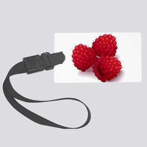 Raspberries Large Luggage Tag