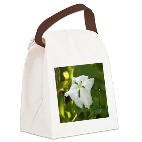 White squash flower canvas lunch bag by fullmoonemp mightylinksfo