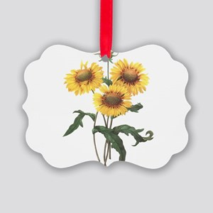 Redoute Sunflowers Picture Ornament