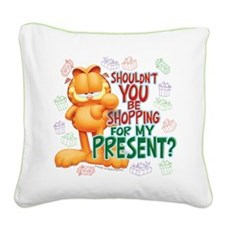 Shop For My Present? Square Canvas Pillow