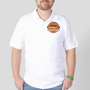 Andermatt Tangerine Golf Shirt
