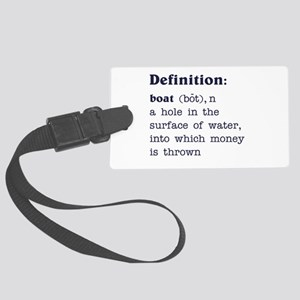 Boat Definition Large Luggage Tag