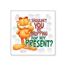 "Shop For My Present? Square Sticker 3"" x 3&qu"