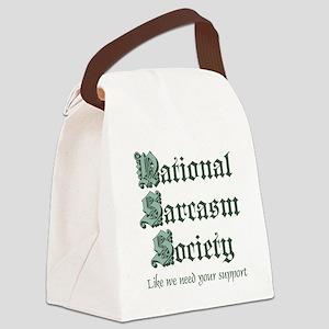 National Sarcasm Society Canvas Lunch Bag