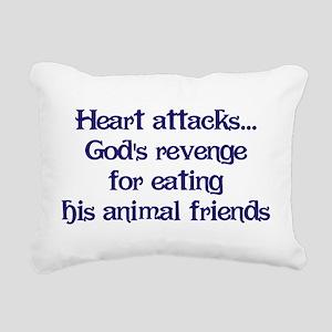 Heart Attacks Rectangular Canvas Pillow