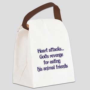 Heart Attacks Canvas Lunch Bag