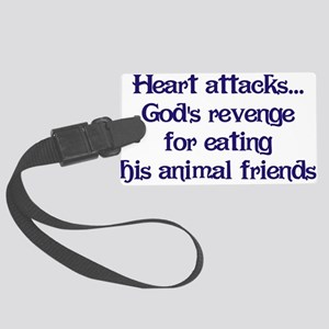 Heart Attacks Large Luggage Tag