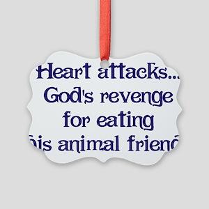 Heart Attacks Picture Ornament