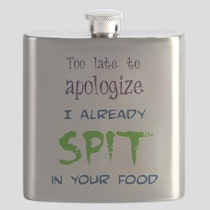 Too Late to Apologize Flask