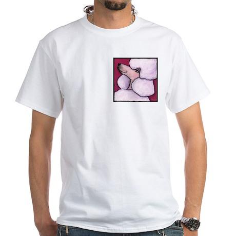 Poodle White White T-Shirt