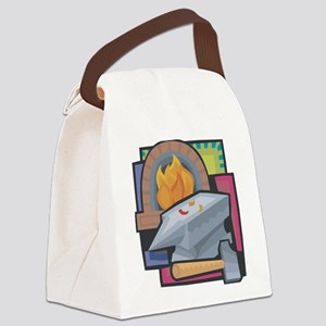 Black Smithing Canvas Lunch Bag