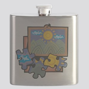 Jigsaw Puzzle Flask