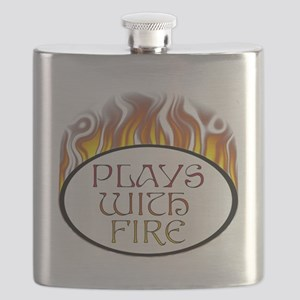 Plays with Fire Flask