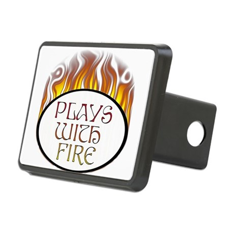 Plays with Fire Rectangular Hitch Cover