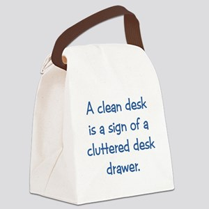 Clean Desk Canvas Lunch Bag