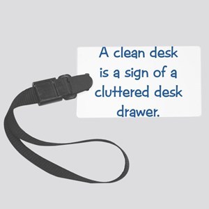 Clean Desk Large Luggage Tag