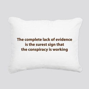 Conspiracy Evidence Rectangular Canvas Pillow