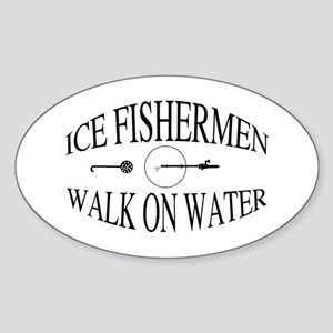 Walk on water Sticker (Oval)