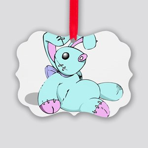 Toy Bunny Picture Ornament
