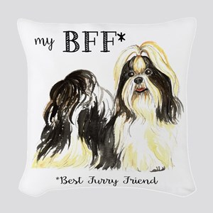Shih Tzu Bff Woven Throw Pillow