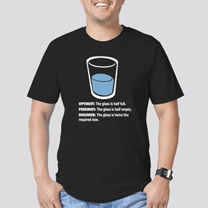 Optimist/Pessimist/Engineer Men's Fitted T-Shirt (