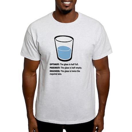 Optimist/Pessimist/Engineer Light T-Shirt