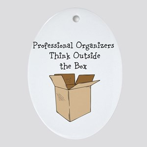 Think Outside the Box Ornament (Oval)