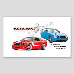 Mustang Burnout final Sticker