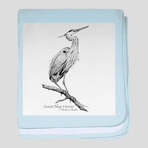 Great Blue Heron baby blanket