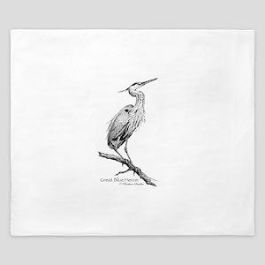Great Blue Heron King Duvet