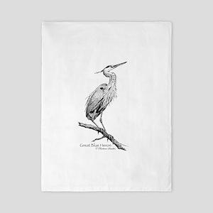 Great Blue Heron Twin Duvet